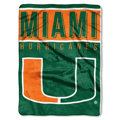 Miami Hurricanes Blanket 60x80 Raschel Basic Design