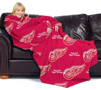 "Detroit Red Wings 48""x71"" Comfy Throw - Logo Design"