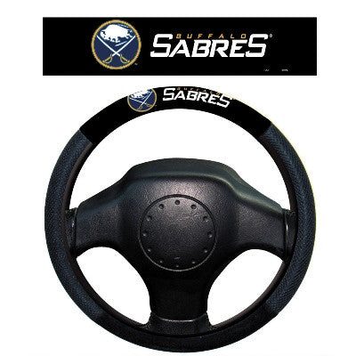 NHL Officially licensed products Buffalo Sabres Poly-Suede Steering Wheel Cover Poly-suede material for comfortable grip. Sl