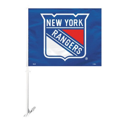 NHL Officially licensed products New York Rangers Car Flag  Show your team spirit proudly with this NHL car flag. Each 11-in