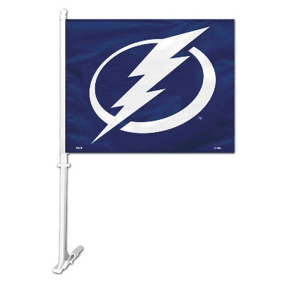 NHL Officially licensed products Tampa Bay Lightning Car Flag  Show your team spirit proudly with this NHL car flag. Each 11