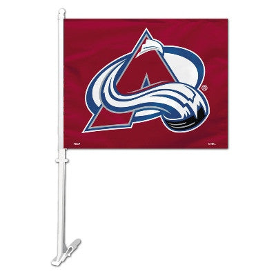 NHL Officially licensed products Colorado Avalanche Car Flag  Show your team spirit proudly with this NHL car flag. Each 11-