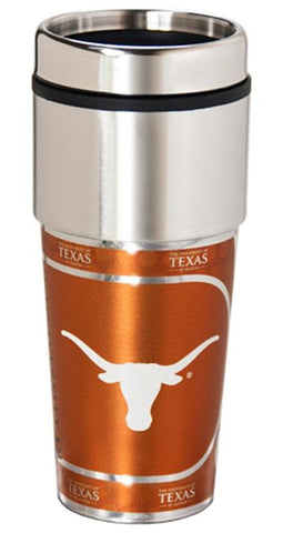Texas Longhorns 16 ounce Travel Tumbler with Metallic Graphics