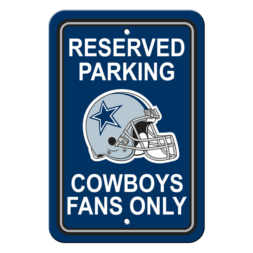 NFL Officially licensed products Dallas Cowboys Plastic Parking Sign - Reserved Parking Show your team spirit proudly with t