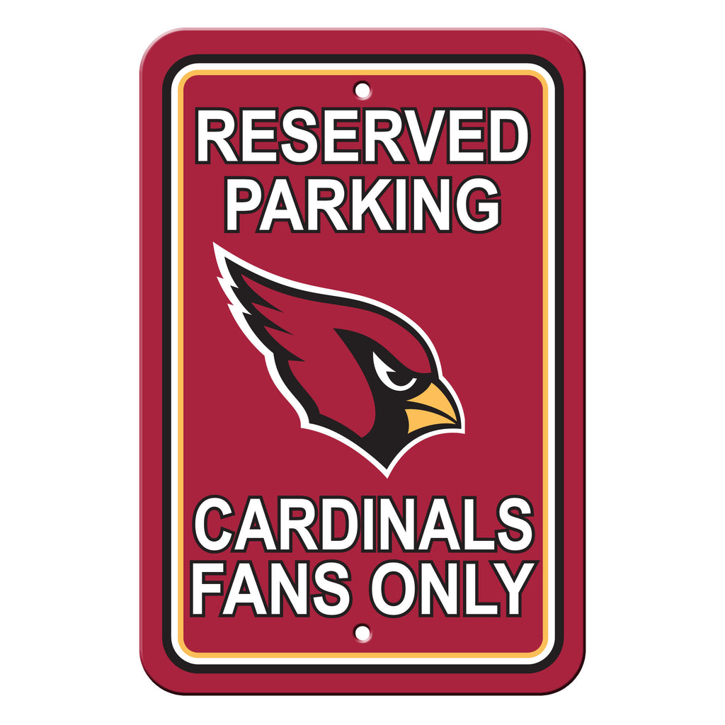 NFL Officially licensed products Arizona Cardinals Plastic Parking Sign - Reserved Parking Show your team spirit proudly wit