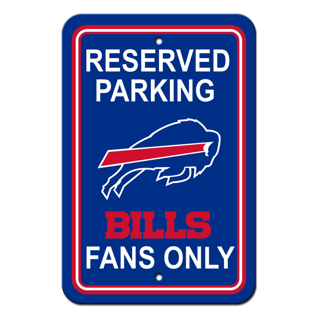 NFL Officially licensed products Buffalo Bills Plastic Parking Sign - Reserved Parking Show your team spirit proudly with th