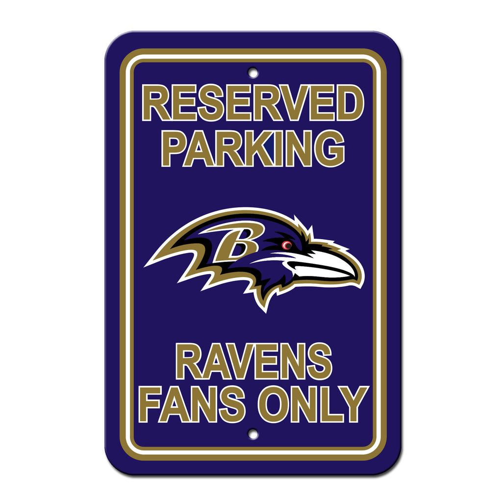 NFL Officially licensed products Baltimore Ravens Plastic Parking Sign - Reserved Parking Show your team spirit proudly with
