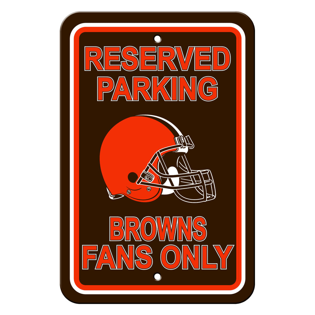 NFL Officially licensed products Cleveland Browns Plastic Parking Sign - Reserved Parking Show your team spirit proudly with