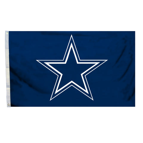 NFL Officially licensed products Dallas Cowboys 4 Ft. X 6 Ft. Flag W/Grommetts Show everyone that you are a die-hard fan by