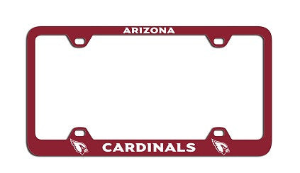 NFL Officially licensed products Arizona Cardinals Laser License Plate Frame This officially licensed license plate frame is