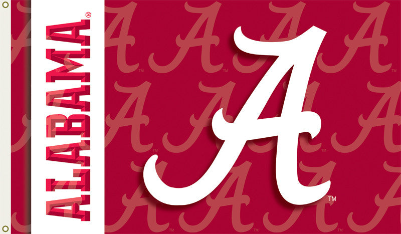 NCAA Officially licensed products Alabama Crimson Tide 2-Sided 3 Ft. X 5 Ft. Flag W/Grommets Show your school spirit by hang