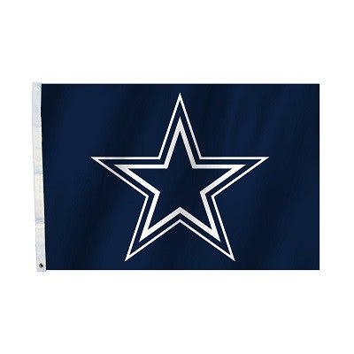 NFL Officially licensed products Dallas Cowboys 2 Ft. X 3 Ft. Flag W/Grommetts Show everyone that you are a die-hard fan by