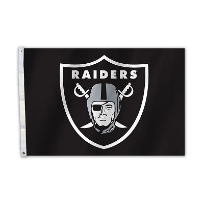 NFL Officially licensed products Oakland Raiders 2 Ft. X 3 Ft. Flag W/Grommetts Show everyone that you are a die-hard fan by