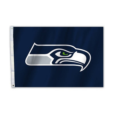NFL Officially licensed products Seattle Seahawks 2 Ft. X 3 Ft. Flag W/Grommetts Show everyone that you are a die-hard fan b