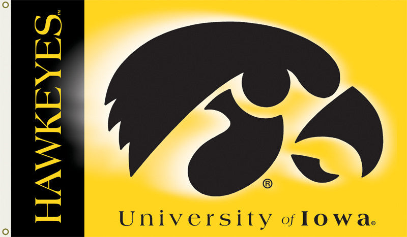 NCAA Officially licensed products Iowa Hawkeyes   2-Sided 3 Ft. X 5 Ft. Flag W/Grommets Show your school spirit by hanging t