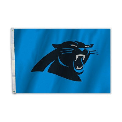 NFL Officially licensed products Carolina Panthers 2 Ft. X 3 Ft. Flag W/Grommetts Show everyone that you are a die-hard fan