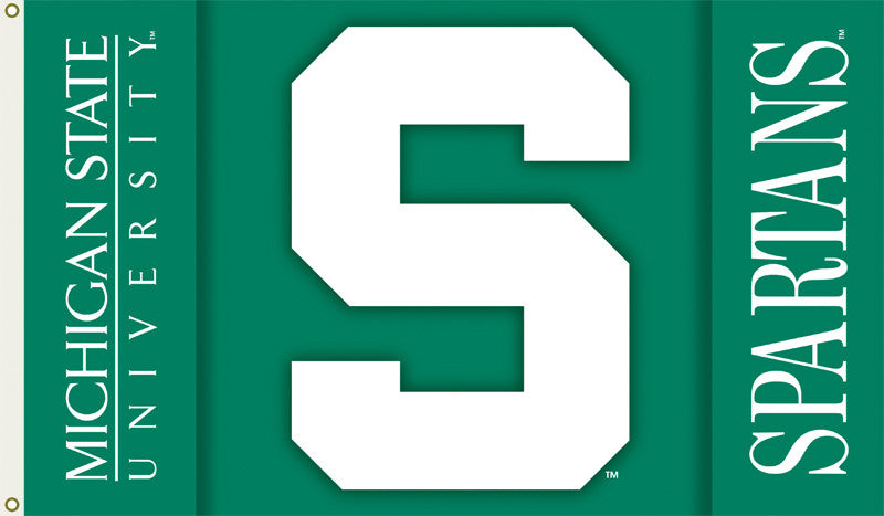 NCAA Officially licensed products Michigan State Spartans 2-Sided 3 Ft. X 5 Ft. Flag W/Grommets Show your school spirit by h