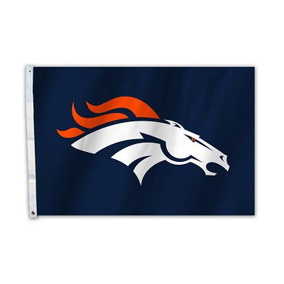 NFL Officially licensed products Denver Broncos 2 Ft. X 3 Ft. Flag W/Grommetts Show everyone that you are a die-hard fan by