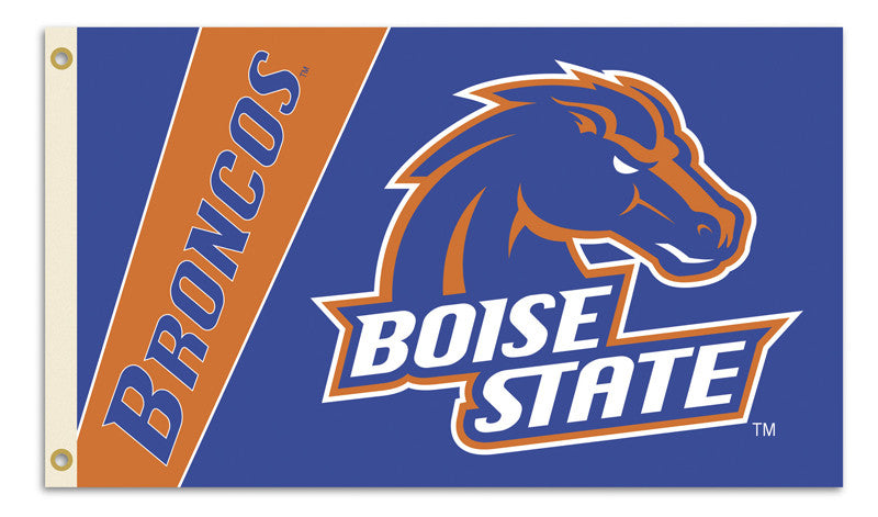 NCAA Officially licensed products Boise State Broncos 2-Sided 3 Ft. X 5 Ft. Flag W/Grommets Show your school spirit by hangi
