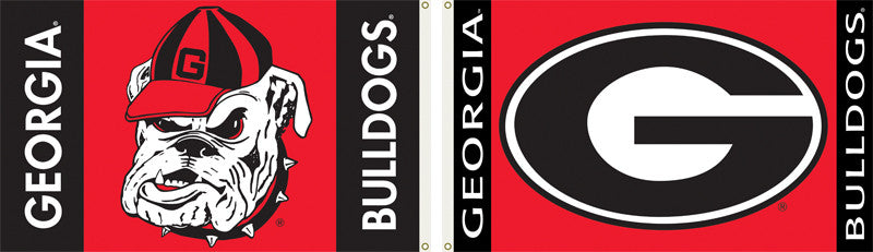 NCAA Officially licensed products Georgia Bulldogs 2-Sided 3 Ft. X 5 Ft. Flag W/Grommets Show your school spirit by hanging