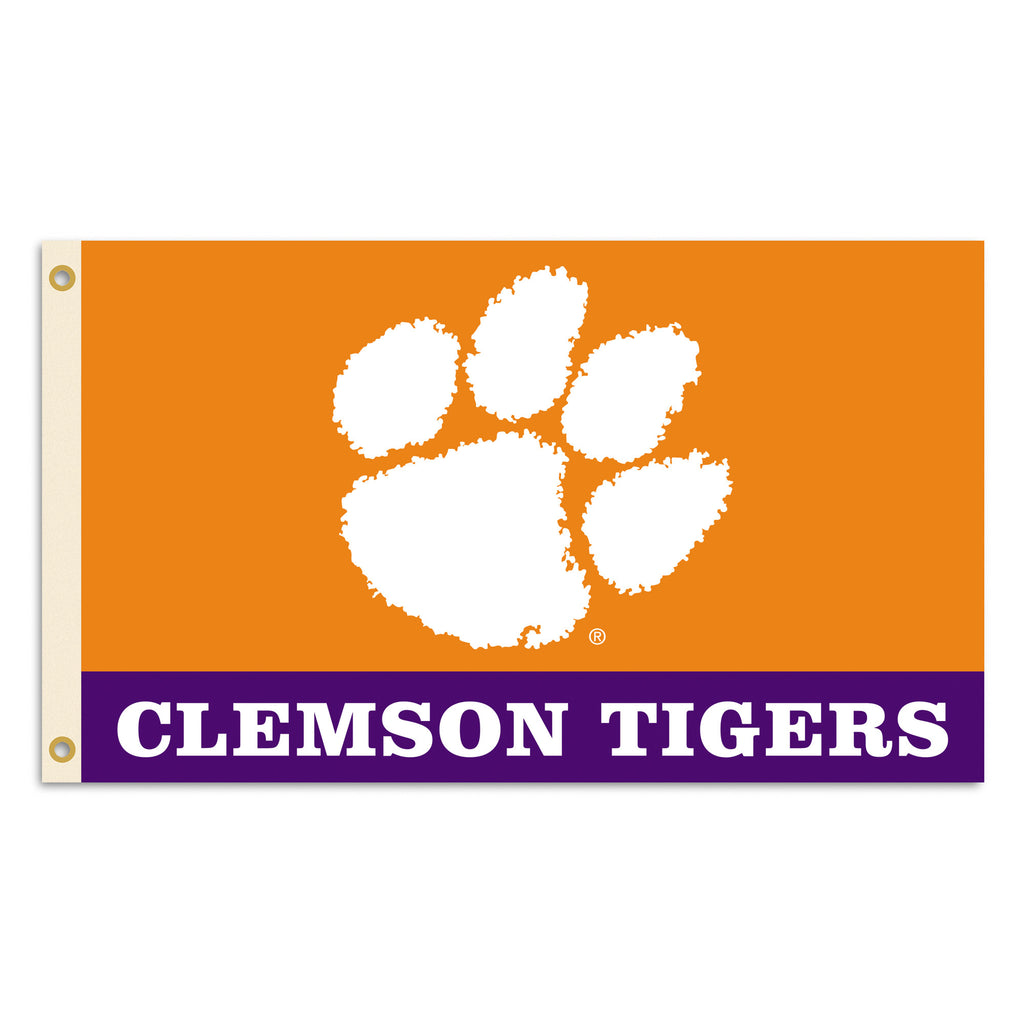 NCAA Officially licensed products Clemson Tigers 2-Sided 3 Ft. X 5 Ft. Flag W/Grommets Show your school spirit by hanging th