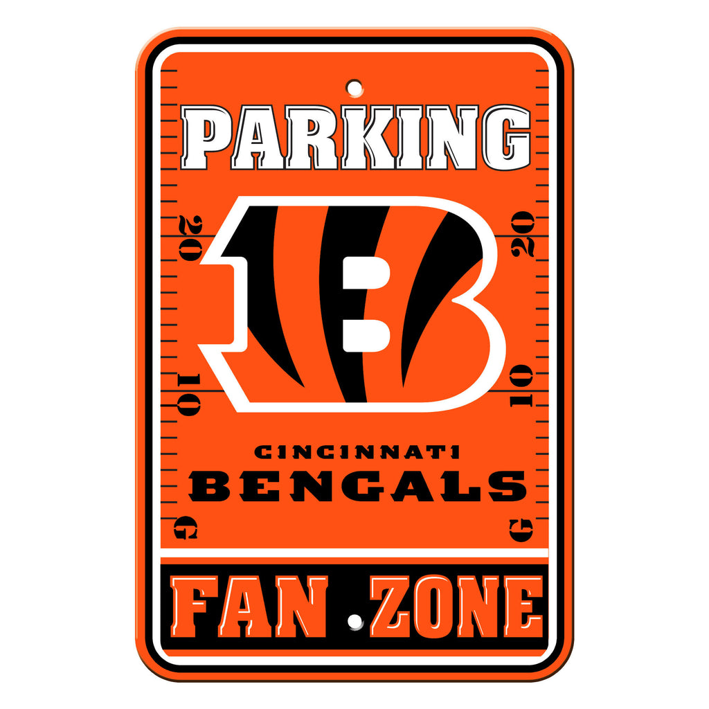 NFL Officially licensed products Cincinnati Bengals Plastic Parking Sign - Fan Zone Show your team spirit proudly with this
