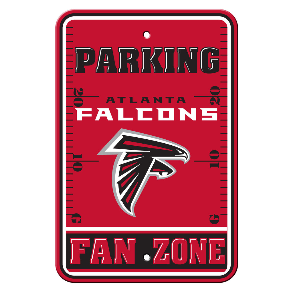 NFL Officially licensed products Atlanta Falcons Plastic Parking Sign - Fan Zone Show your team spirit proudly with this 12""