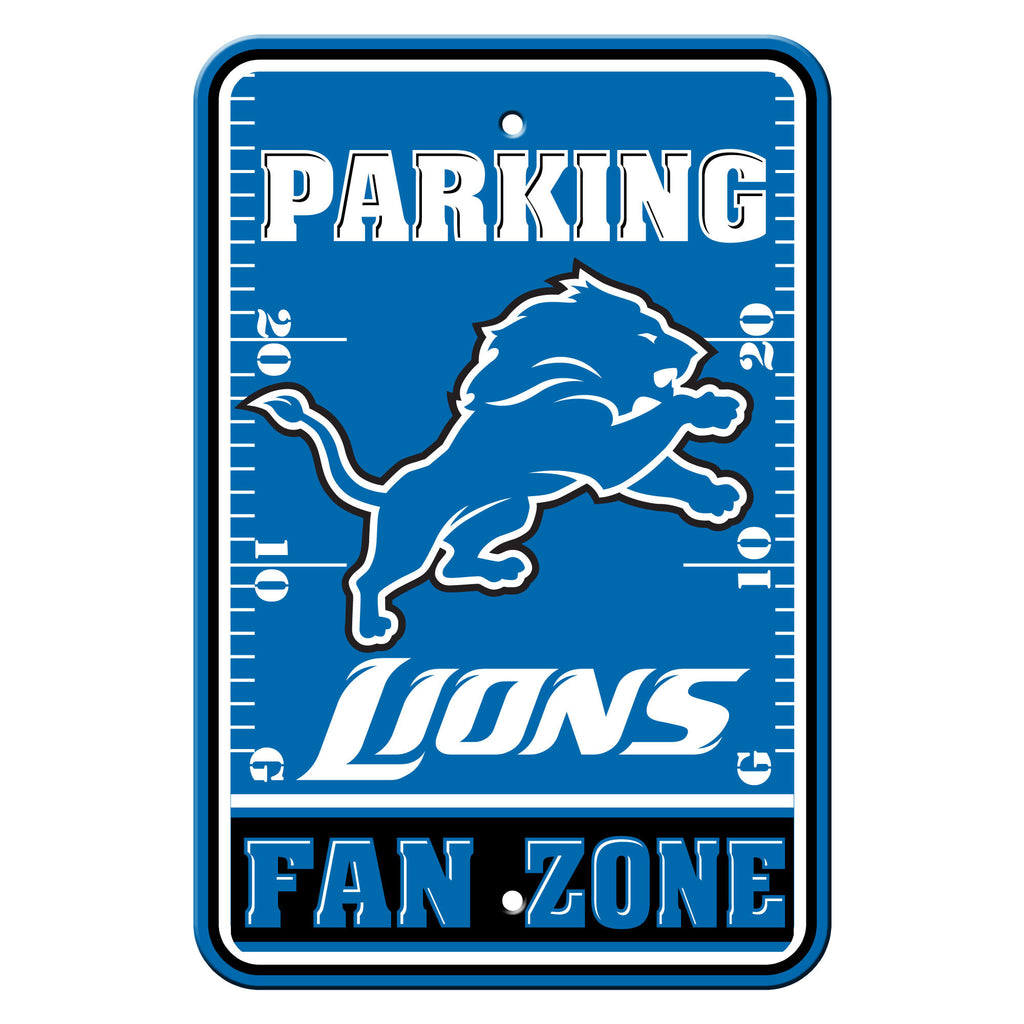 "NFL Officially licensed products Detroit Lions Plastic Parking Sign - Fan Zone Show your team spirit proudly with this 12"" X"