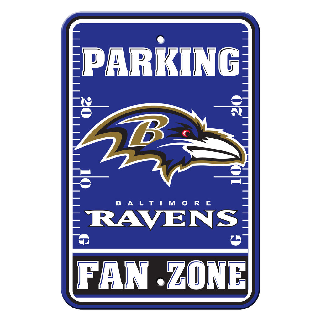 NFL Officially licensed products Baltimore Ravens Plastic Parking Sign - Fan Zone Show your team spirit proudly with this 12
