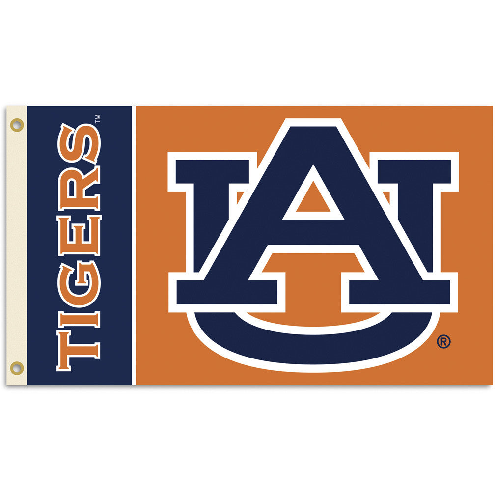 NCAA Officially licensed products Auburn Tigers 2-Sided 3 Ft. X 5 Ft. Flag W/Grommets Show your school spirit by hanging thi