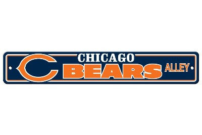 "NFL Officially licensed products Chicago Bears Plastic Street Sign Show your team spirit proudly with this 4"" X 24"" Street S"