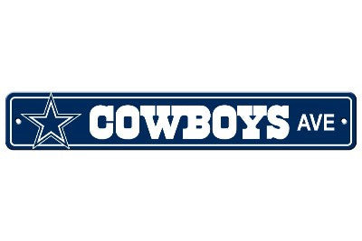 "NFL Officially licensed products Dallas Cowboys Plastic Street Sign Show your team spirit proudly with this 4"" X 24"" Street"