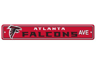 "NFL Officially licensed products Atlanta Falcons Plastic Street Sign Show your team spirit proudly with this 4"" X 24"" Street"