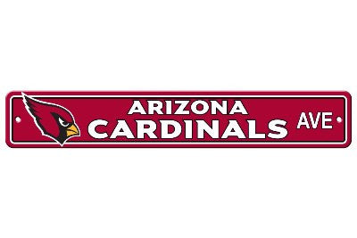 "NFL Officially licensed products Arizona Cardinals Plastic Street Sign Show your team spirit proudly with this 4"" X 24"" Stre"