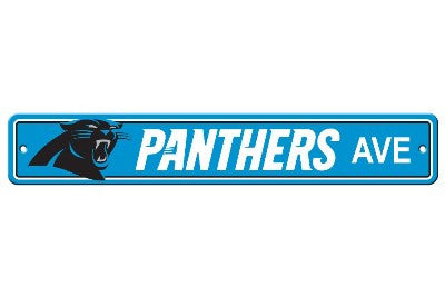 "NFL Officially licensed products Carolina Panthers Plastic Street Sign Show your team spirit proudly with this 4"" X 24"" Stre"