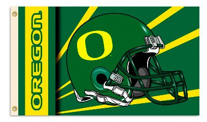NCAA Officially licensed products Oregon Ducks 2-Sided 3 Ft. X 5 Ft. Flag W/Grommets Show your school spirit by hanging this