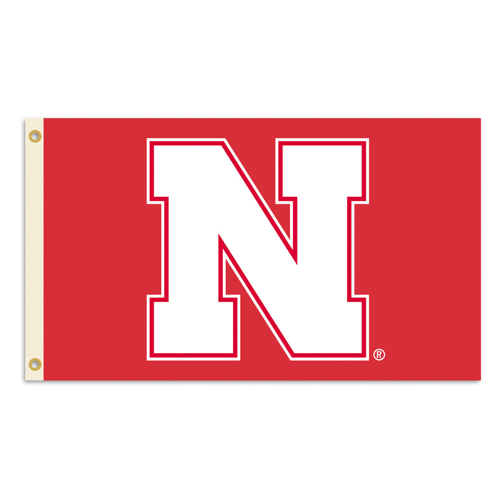 NCAA Officially licensed products Nebraska Cornhuskers 2-Sided 3 Ft. X 5 Ft. Flag W/Grommets Show your school spirit by hang