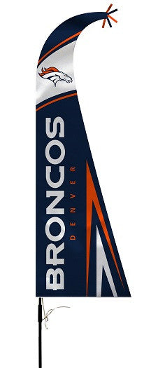 NFL Officially licensed products Denver Broncos Feather Flag This officially licensed feather shaped flag is silk screened w