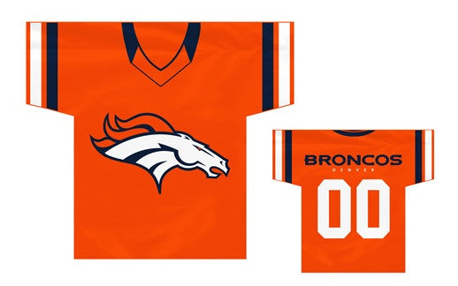"NFL Officially licensed products Denver Broncos Jersey Banner 34"" x 30"" - 2-Sided These premium two-sided 34"" x 30"" Jersey B"