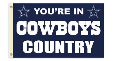 NFL Officially licensed products Dallas Cowboys 3 Ft. X 5 Ft. Flag W/Grommetts Show everyone that you are a die-hard fan by