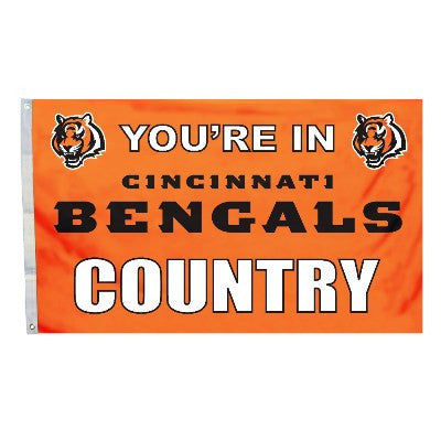 NFL Officially licensed products Cincinnati Bengals 3 Ft. X 5 Ft. Flag W/Grommetts Show everyone that you are a die-hard fan