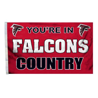 NFL Officially licensed products Atlanta Falcons 3 Ft. X 5 Ft. Flag W/Grommetts Show everyone that you are a die-hard fan by