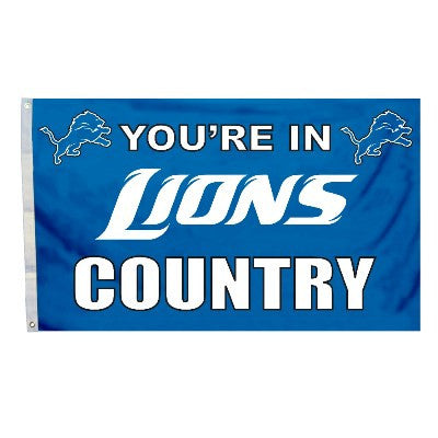 NFL Officially licensed products Detroit Lions 3 Ft. X 5 Ft. Flag W/Grommetts Show everyone that you are a die-hard fan by h