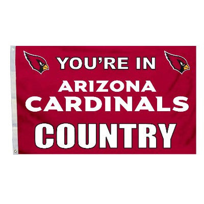 NFL Officially licensed products Arizona Cardinals 3 Ft. X 5 Ft. Flag W/Grommetts Show everyone that you are a die-hard fan