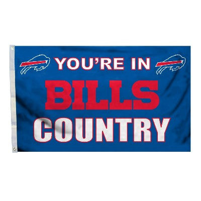 NFL Officially licensed products Buffalo Bills 3 Ft. X 5 Ft. Flag W/Grommetts Show everyone that you are a die-hard fan by h