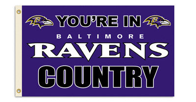 NFL Officially licensed products Baltimore Ravens 3 Ft. X 5 Ft. Flag W/Grommetts Show everyone that you are a die-hard fan b