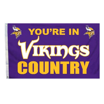 NFL Officially licensed products Minnesota Vikings 3 Ft. X 5 Ft. Flag W/Grommetts Show everyone that you are a die-hard fan