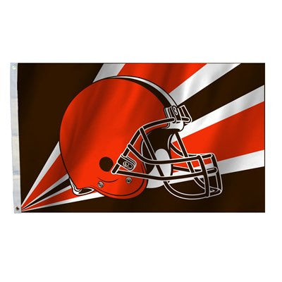 NFL Officially licensed products Cleveland Browns 3 Ft. X 5 Ft. Flag W/Grommetts Show everyone that you are a die-hard fan b