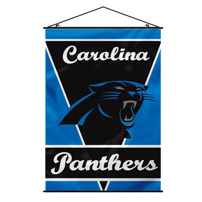 NFL Officially licensed products Carolina Panthers Wall Banner Support your favorite NFL team at home or in the office by ha
