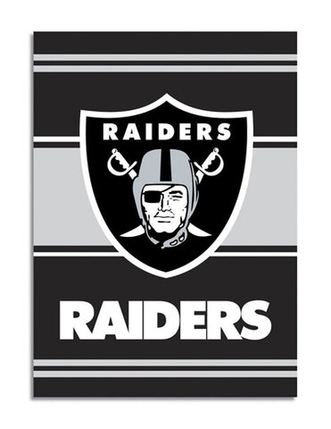 NFL Officially licensed products Oakland Raiders 2-Sided 28 X 40 House Banner Support your favorite team by hanging up this